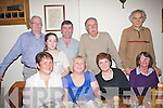 Margaret Kelliher, Boherbue, Tralee (seated 2nd left) celebrated her birthday last Saturday evening in Bella Bia restaurant, Ivy Terrace, Tralee, seated l-r: Eleanor Fortune, Margaret Kelliher, Norma O'Reilly and Ann Carrick. Back l-r: Ed O'Reilly, Ellen and Peter Fortune with Michael and Donal Carrick.