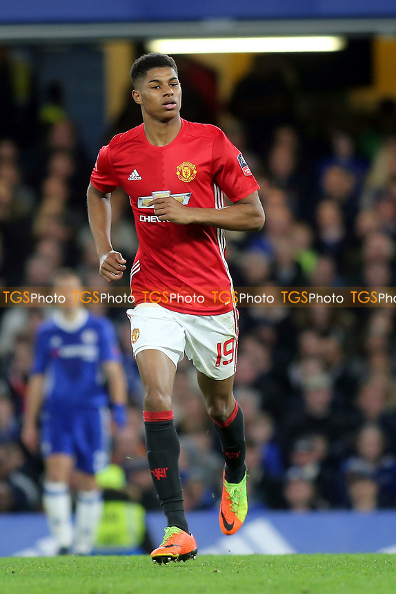 Marcus Rashford of Manchester United during Chelsea vs Manchester United, Emirates FA Cup Football at Stamford Bridge on 13th March 2017