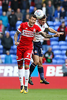 Middlesbrough's Marvin Johnson (L)<br /> <br /> Photographer Juel Miah/CameraSport<br /> <br /> The EFL Sky Bet Championship - Bolton Wanderers v Middlesbrough - Saturday 9th September 2017 - Macron Stadium - Bolton<br /> <br /> World Copyright &copy; 2017 CameraSport. All rights reserved. 43 Linden Ave. Countesthorpe. Leicester. England. LE8 5PG - Tel: +44 (0) 116 277 4147 - admin@camerasport.com - www.camerasport.com