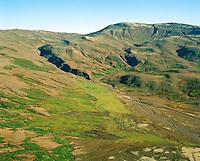 Svartagil séð til norðurs, Bláskógabyggð áður Þingvallahreppur /  Svartagil viewing north, Blaskogabyggd former Thingvallahreppur.