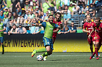 Seattle, Washington - Saturday, May 20, 2017: Seattle Sounders FC vs Real Salt Lake. Final Score: Seattle Sounders FC 1, Real Salt Lake 0.