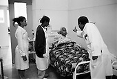 Asmara, Eritrea.November 2002.Birhan Aim Hospital  (Light to the Eye Hospital)..Beyond the cataract operations other complicated cases are looked at on Saturday mornings in the hospital. Laser surgery is done on certain patients with diabetes...