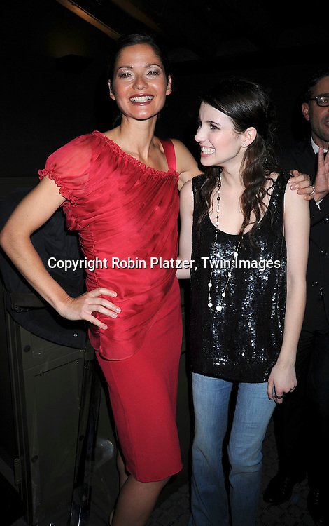 Jill Hennessy and Emma Roberts