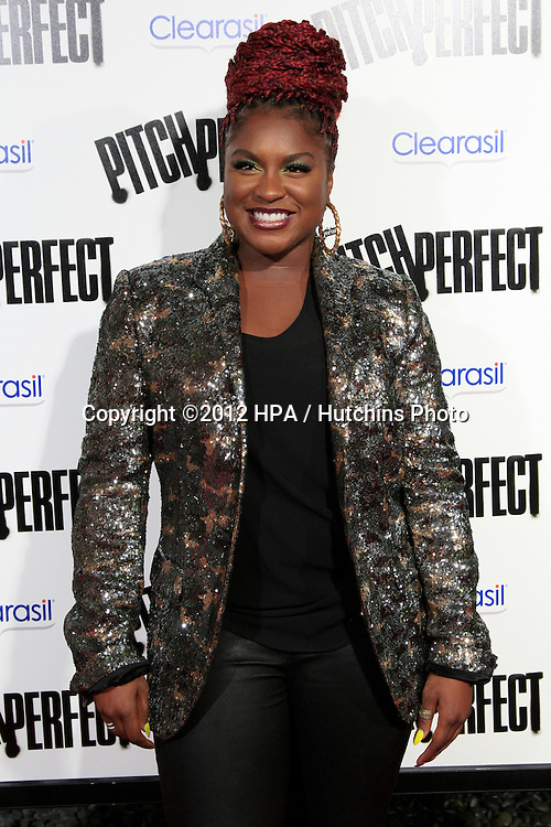 """LOS ANGELES - SEP 24:  Ester Dean arrives at the """"Pitch Perfect'"""" Premiere at ArcLight Cinemas on September 24, 2012 in Los Angeles, CA"""