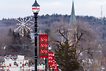 WINSTED, CT. 08 December 2018-120818 - Main street in Winsted is all decked out with banners and snowflake lights as they celebrate Christmas on Main in Winsted on Saturday. Bill Shettle Republican-American