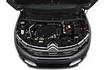Car Stock 2019 Citroen C5-Aircross Shine 5 Door SUV Engine  high angle detail view