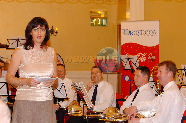 Siobhan Shortt from Drogheda concentrates addressing the audience at teh Lourdes Brass Band concert in the West Court Hotel..Photo NEWSFILE/FRAN CAFFREY..(Photo credit should read FRAN CAFFREY/NEWSFILE)...This Picture has been sent you under the condtions enclosed by:.Newsfile Ltd..the Studio,.Millmount Abbey,.Drogheda,.Co Meath..Ireland..Tel: +353(0)41-9871240.Fax: +353(0)41-9871260.GSM: +353(0)86-2500958.email: pictures@newsfile.ie.www.newsfile.ie.FTP: 193.120.102.198..This picture is from Fran Caffrey@newsfile.ie
