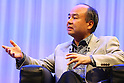 SoftBank CEO Masayoshi Son attends companys special lecture in Tokyo, Japan on October 22, 2015.<br /> SoftBank Chairman &amp; CEO Masayoshi Son and group President &amp; COO Nikesh Arora discuss the SoftBank Group's Global Strategy, Leadership and other themes in a special fireside lecture<br /> (without fire) as part of the SoftBank Academia series. Via the series, which is also broadcast via webcast, SoftBank hopes to inspire and recruit potential leaders of the company. (Photo by Shingo Ito/AFLO)