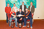 Brosnan GAA with a cheque from Chapter 21Credit Union presented by Kerry County GAA board,  chairman Patrick O'Sullivan at the Manor West Hotel on Thursday Pictured Michéal Murphy, Pat O'Sullivan and  Dave Curtin. Back l-r Dermot Lynch, Jimmy Keane, Mikey Walsh and Jack Harrington