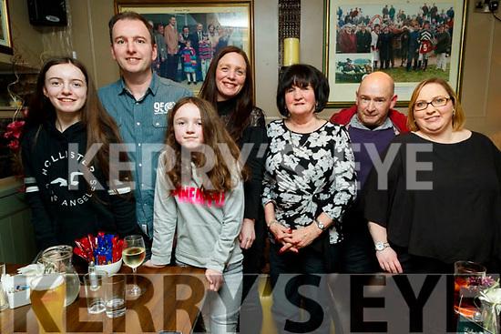 Chloe, Eric, Nicola, Elaine and Theresa Lehane with TJ Cronin  and Helen Cronin, enjoying a night out at the Brogue Inn, Tralee on Saturday night last.