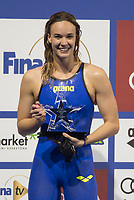 Margherita Panziera of Italy won the Women's 200m Backstroke competition at the FINA Champions Swim Series at the Danube Arena in Budapest, Hungary on May 11, 2019. ATTILA VOLGYI