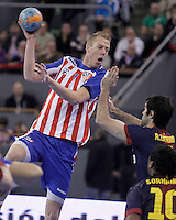 BM Atletico de Madrid's Nikolaj Markussen during ASOBAL League match.December 08 ,2012. (ALTERPHOTOS/Acero) /NortePhoto