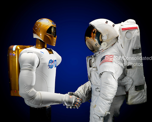 Robonaut 2, a dexterous, humanoid astronaut helper, photographed on June 10, 2010, will fly to the International Space Station aboard space shuttle Discovery on the STS-133 mission. Although it will initially only participate in operational tests, upgrades could eventually allow the robot to realize its true purpose -- helping spacewalking astronauts with tasks outside the space station. STS-133, aboard the Space Shuttle Discovery, is scheduled for launch Monday, November 1, 2010 at 4:40 p.m. EDT..Mandatory Credit: Robert Markowitz & Bill Stafford / NASA via CNP