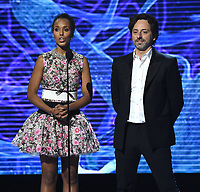 MOUNTAIN VIEW, CA - DECEMBER 3: Kerry Washington and Sergey Brin appear on the 6th Annual Breakthrough Prize at NASA Ames Research Center on December 3, 2017 in Mountain View, California. (Photo by Frank Micelotta/NatGeo/PictureGroup)