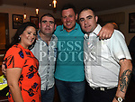 Past pupils Jenny McGuinness, Richie Fallon, Richie McGuinness and Joey Brady from St Oliver's Community College at their Class of '97 reunion in McHugh's. Photo:Colin Bell/pressphotos.ie