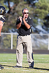 Palos Verdes, CA 09/27/13 - Michael Christensen (Peninsula Head Coach) in action during the Lawndale vs Palos Verdes Peninsula Varsity football game at Peninsula High School.