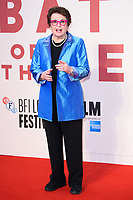 Billie Jean King<br /> arriving for the London Film Festival 2017 screening of &quot;Battle of the Sexes&quot; at the Odeon Leicester Square, London<br /> <br /> <br /> &copy;Ash Knotek  D3322  07/10/2017