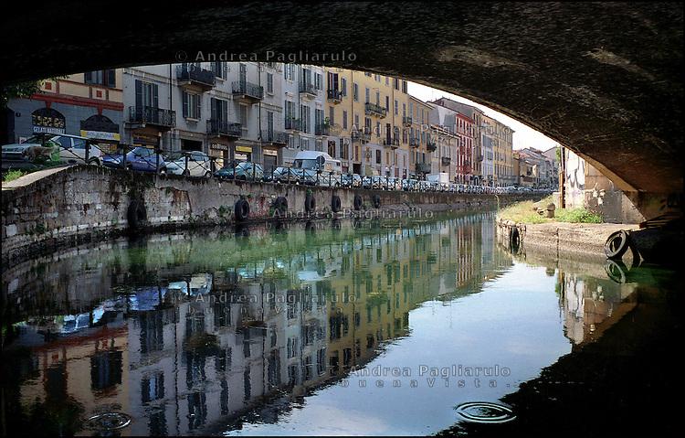 Italia, Milano, .I Navigli. The Fleets..© Andrea Pagliarulo