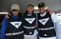 Sky broadcasting operatives at the Jack Hobbs Memorial Under-19 Rugby Tournament at Owen Delaney Park in Taupo, New Zealand on Wednesday, 21 September 2016. Photo: Dave Lintott / lintottphoto.co.nz
