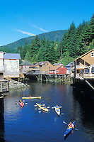 Historic Creek Street, Ketchikan, Alaska.summer