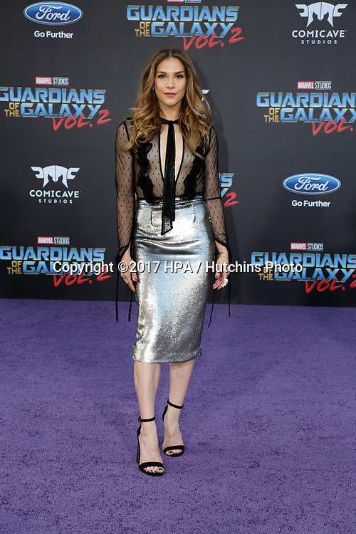 """LOS ANGELES - APR 19:  Allison Holker at the """"Guardians of the Galaxy Vol. 2"""" Los Angeles Premiere at the Dolby Theater on April 19, 2017 in Los Angeles, CA"""