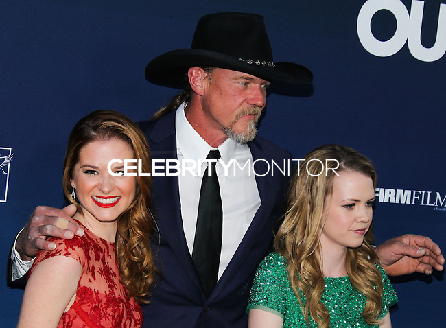 "HOLLYWOOD, LOS ANGELES, CA, USA - APRIL 29: Sarah Drew, Trace Adkins, Abbie Cobb at the Los Angeles Premiere Of TriStar Pictures' ""Mom's Night Out"" held at the TCL Chinese Theatre IMAX on April 29, 2014 in Hollywood, Los Angeles, California, United States. (Photo by Xavier Collin/Celebrity Monitor)"