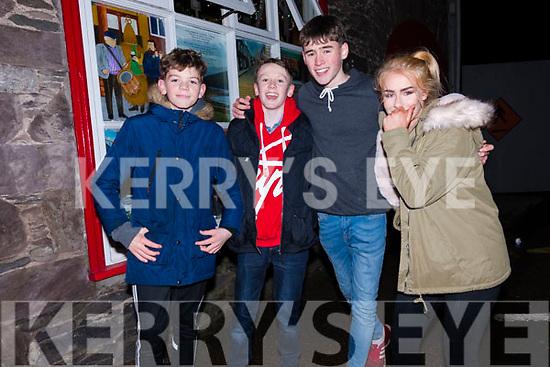 Ruairc Ó Sé, David McCarthy, Jill Hutchins and Kaylin Galvin enjoying New Year's Eve in Dingle.