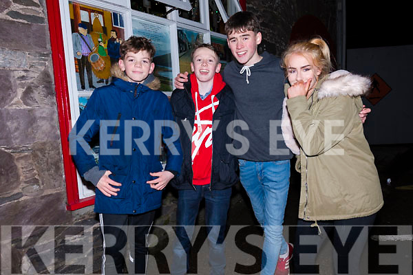 Ruairc Ó Sé, David McCarthy, Jill Hutchins and Kaylin Galvin enjoying New Year's Eve in Dingle.