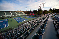 STANFORD, CA - April 14, 2011: The main court facilities at the Taube Family Tennis Center on Stanford's campus.