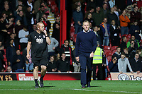 Birmingham City Manager, Garry Monk, is sent to the stands in the second half and suffers the embarrassment of having to walk across the pitch during Brentford vs Birmingham City, Sky Bet EFL Championship Football at Griffin Park on 2nd October 2018