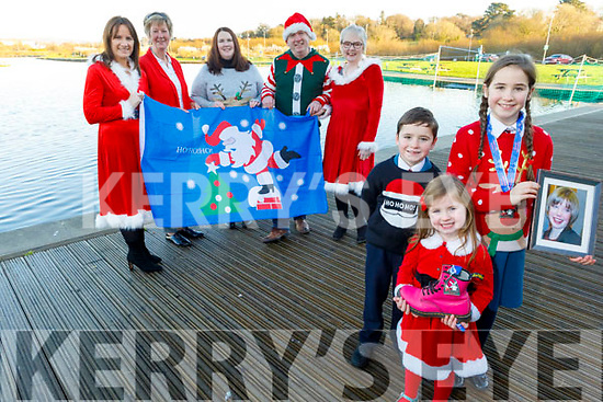 Launching the Fiona Moore 5k Santa Fun Run in the Wetlands on Monday, which goes ahead on the 15th December in the Tralee Bay Wetlands.<br /> Front l to r: Jamie, Sophie and Paige Quillinan.<br /> Back l to r: Mags Quillinan, Maura Sullivan, Martin and  DeirdreMoore and Aoife Moynihan.