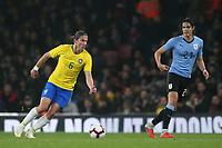 Filipe Luis of Brazil in action during Brazil vs Uruguay, International Friendly Match Football at the Emirates Stadium on 16th November 2018