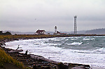 Point Wilson lighthouse, Port Townsend, Puget Sound, Admiralty Inlet, Washington State, Pacific Northwest, USA,