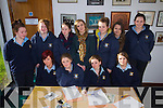 Listowel Community College pictured at the Kerry Educations Service Master Class in Irish at Kerry County Library on Wednesay were l-r: Nikita O'Sullivan, Danielle Foley, Philomena Hickey and Julianne McCarty. Back l-r: Sorcha Enright, Celine Leahy, Kayleigh Maxwell, Maria O'Keeffe (teacher) Megan Fealy, Shauna Brouder and Emma Ryan..