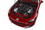 Car Stock 2016 Fiat 124-Spider Lusso 2 Door Convertible Engine  high angle detail view