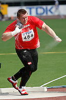 Joachim Olsen of Denmark qualified for the finals of the shot put with a toss of 20.62m at the 11th. IAAF World Championships in Osaka,Japan on Saturday, August 25, 2007. Photo by Errol Anderson,The Sporting Image.