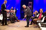 UTRECHT -  Marcel Welling (Burggolf) , A tribe called Golf, de kracht van de connectie. Nationaal Golf Congres van de NVG 2014 , Nederlandse Vereniging Golfbranche. COPYRIGHT KOEN SUYK
