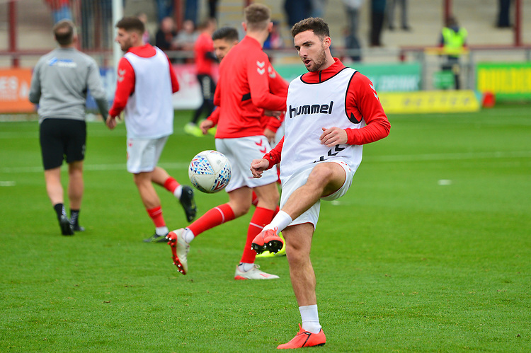 Fleetwood Town's Lewis Coyle warms up prior to the match<br /> <br /> Photographer Richard Martin-Roberts/CameraSport<br /> <br /> The EFL Sky Bet League One - Fleetwood Town v Ipswich Town - Saturday 5th October 2019 - Highbury Stadium - Fleetwood<br /> <br /> World Copyright © 2019 CameraSport. All rights reserved. 43 Linden Ave. Countesthorpe. Leicester. England. LE8 5PG - Tel: +44 (0) 116 277 4147 - admin@camerasport.com - www.camerasport.com