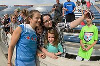 Bridgeview, IL - Sunday June 04, 2017: Stephanie McCaffrey, Fans during a regular season National Women's Soccer League (NWSL) match between the Chicago Red Stars and the Seattle Reign FC at Toyota Park. The Red Stars won 1-0.