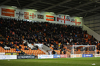 Blackpool fans watch their team in action <br /> <br /> Photographer Kevin Barnes/CameraSport<br /> <br /> The EFL Sky Bet League One - Blackpool v Gillingham - Tuesday 11th February 2020 - Bloomfield Road - Blackpool<br /> <br /> World Copyright © 2020 CameraSport. All rights reserved. 43 Linden Ave. Countesthorpe. Leicester. England. LE8 5PG - Tel: +44 (0) 116 277 4147 - admin@camerasport.com - www.camerasport.com