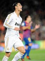 Esultanza Cristiano Ronaldo Real Madrid.Barcellona 25/1/2012 Nou Camp.Barcellona Real Madrid 2-2  Coppa del Re .foto Insidefoto / Paco Largo / Panoramic.Italy Only