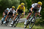 The peloton including Yellow Jersey Chris Froome (GBR) Team Sky in action during Stage 19 of the 104th edition of the Tour de France 2017, running 222.5km from Embrun to Salon-de-Provence, France. 21st July 2017.<br /> Picture: ASO/Alex Broadway | Cyclefile<br /> <br /> <br /> All photos usage must carry mandatory copyright credit (&copy; Cyclefile | ASO/Alex Broadway)
