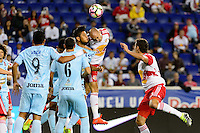Harrison, NJ - Thursday Sept. 15, 2016: Aurelien Collin during a CONCACAF Champions League match between the New York Red Bulls and Alianza FC at Red Bull Arena.