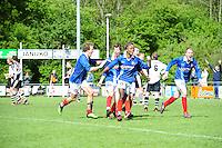 VOETBAL: SURHUISTERVEEN: Sportpark 't Ketting, 12-05-2012, Zaterdag 2e Klasse I, vv 't Fean '58 - SDS, Eindstand 2-1, Jan Ewoud Douwstra (#4), Ale Lanting (#3), Imani Mchimbwa (#7), Joost Nieuwenhuis (#14), Edbert Groen (#11), ©foto Martin de Jong