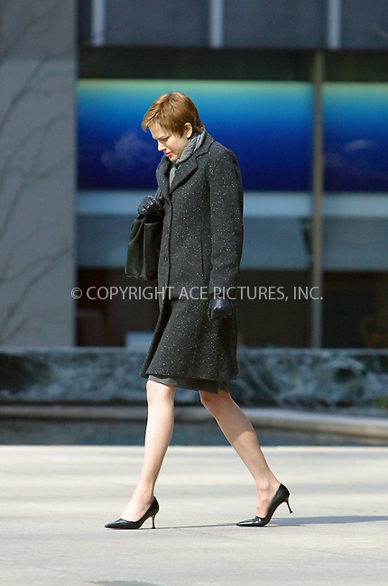 "Perhaps Nicole Kidman's thoughts were about sweet and warm home as she had to face deep freeze which felt like 8 degrees Fahrenheit as she filmed scenes for her upcoming mystery feature, ""Birth,"" on Park Avenue in New York. Given her facial expressions, it seems, it was quite an unpleasant experience for Nicole.  March 3, 2003. Please byline: Donald Murphy/NY Photo Press.   ..*PAY-PER-USE*      ....NY Photo Press:  ..phone (646) 267-6913;   ..e-mail: info@nyphotopress.com"