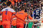 ROTTERDAM -  Opkomst van Oranje    voor  de Pro League hockeywedstrijd heren, Nederland-Spanje (4-0) . COPYRIGHT KOEN SUYK