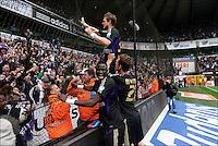 Guillaume Gillet (RSC Anderlecht) .Anderlecht Campione del Belgio .Bruxelles 6/5/2012.Football Calcio 2011/ 2012.RSC Anderlecht vs Club Brugge - Jupiler League.Foto Insidefoto / Philippe Crochet / Photo News / Panoramic