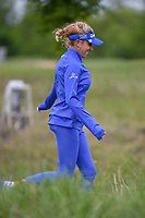 Natalie Gulbis (USA) runs through the tall grass as she heads down 1 during round 1 of  the Volunteers of America LPGA Texas Classic, at the Old American Golf Club in The Colony, Texas, USA. 5/4/2018.<br /> Picture: Golffile | Ken Murray<br /> <br /> <br /> All photo usage must carry mandatory copyright credit (&copy; Golffile | Ken Murray)