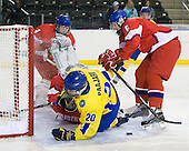 Oldrich Horak (Czech Republic - 4), Filip Novotny (Czech Republic - 1), Magnus Svensson Pääjärvi (Sweden - 20), David Musil (Czech Republic - 6) - Sweden defeated the Czech Republic 4-2 at the Urban Plains Center in Fargo, North Dakota, on Saturday, April 18, 2009, in their final match of the 2009 World Under 18 Championship.