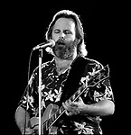 August 1984 Manteca, California:<br /> Beach Boys played at Oakwood Lake Resort, home of the Manteca Waterslides.  At this time the band was touring with Brian Wilson.  Mike Love, Al Jardine, Carl Wilson, and Bruce Johnston from original group were preforming.<br /> <br /> Photo by Al Golub/Golub Photography